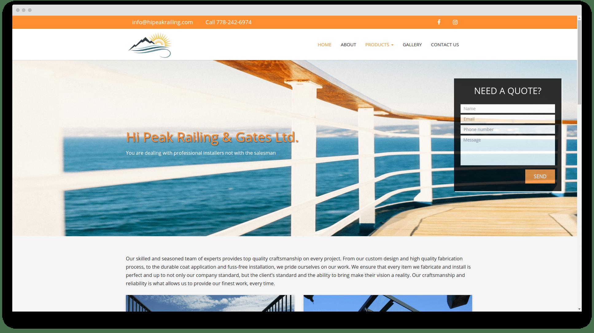 Website design in Abbostford